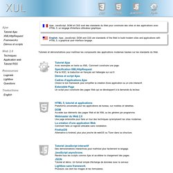 Ajax, JavaScript, CSS, HTML 5 et interfaces graphiques
