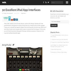 30 Excellent iPad App Interfaces