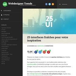 25 interfaces fraîches pour votre inspiration