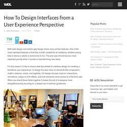 How To Design Interfaces from a User Experience Perspective