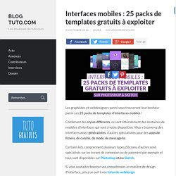 Interfaces mobiles : 25 packs de templates gratuits à exploiter - Blog Tuto.com