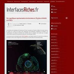 De magnifiques représentations de données en 3D grâce à WebGL et HTML5
