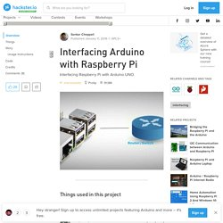 Interfacing Arduino with Raspberry Pi