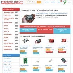 Kits Boards ARM7 AVR Arduino PIC 8051 Interfacing Programmer Robotics Embedded Products - EmbeddedMarket.com India