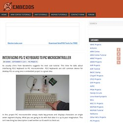 Interfacing PS/2 keyboard to PIC microcontroller