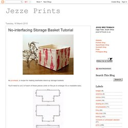 No-interfacing Storage Basket Tutorial