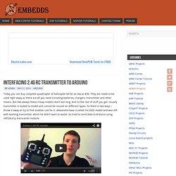 Interfacing 2.4G RC transmitter to Arduino