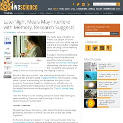 Late-Night Meals May Interfere with Memory, Research Suggests