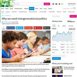 Why we need intergenerational politics