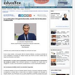 La co-éducation intergénérationnelle, monde réel et éducation traditionnelle