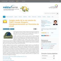 Compte-rendu de la 44e session du (GIEC) Groupe d'experts intergouvernemental sur l'évolution du climat