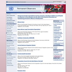 United Nations member States - intergovernmental organizations participating as observers