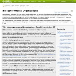 Intergovernmental Organizations