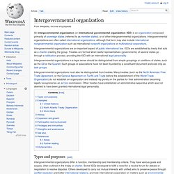 Intergovernmental organization
