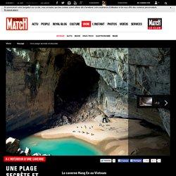 A l'intérieur d'une caverne - Une plage secrète et discrète