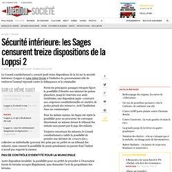 Sécurité intérieure: les Sages censurent Sarkozy