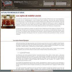 Intérieurs Déco Brocante - Meubles de charme et mobiliers baroques - lustres anciens - Lanternes - Décoration