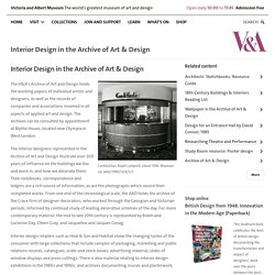 Interior Design in the Archive of Art & Design