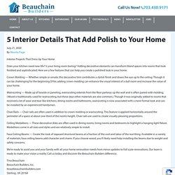 5 Interior Details That Add Polish to Your Home - Beauchain Builders