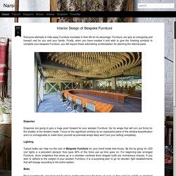 Interior Design of Bespoke Furniture