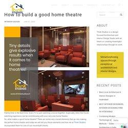 Home Theatre Interior Designs