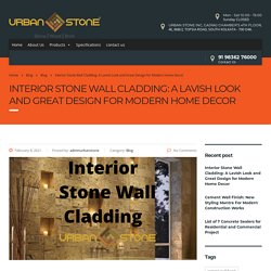 Interior Stone Wall Cladding: A Lavish Look and Great Design for Modern Home Decor