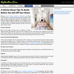 4 Interior Decor Tips To Avoid Before You Sell Off Your Home