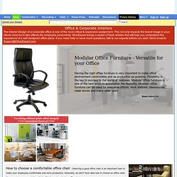 Office designs, Office interior decoration, Office furniture, Modular office, Office decoration