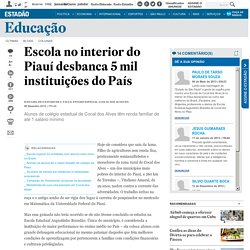 Escola no interior do Piauí desbanca 5 mil instituições do País