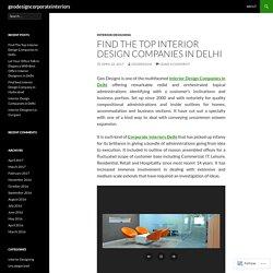 Find The Top Interior Design Companies In Delhi