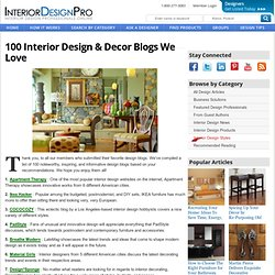 100 Design & Decor Blogs We Love - @DesignProNews