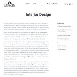 Interior Designer in Melbourne - Oriana Building Design
