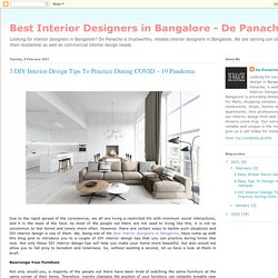3 DIY Interior Design Tips To Practice During COVID – 19 Pandemic