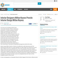 Interior Designers Milton Keynes Provide Interior Design Milton Keynes