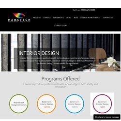 One year Diploma course in Interior design from Hamstech Institute