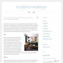 Social Media in the Interior Design Industry
