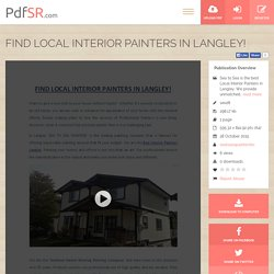 FIND LOCAL INTERIOR PAINTERS IN LANGLEY!