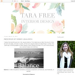 Tara Free Interior Design: PRINCIPLES OF DESIGN {BALANCE}