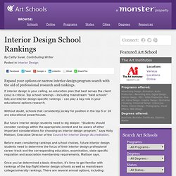 Interior Design School Rankings - ArtSchools.com