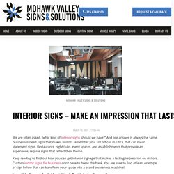 Interior Signs - Make an Impression That Lasts