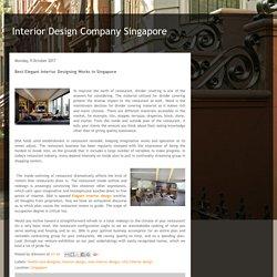 Interior Design Company Singapore: Best Elegant Interior Designing Works in Singapore