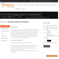 Study Interior Design Courses/Degree in Singapore - Imperial-overseas.com