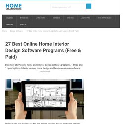 18 Best Online Home Interior Design Software Programs (Free & Paid)