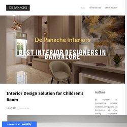 Interior Design Solution for Children's Room - De Panache Interiors