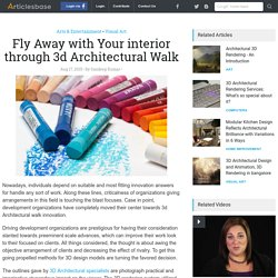 Fly Away with Your interior through 3d Architectural Walk