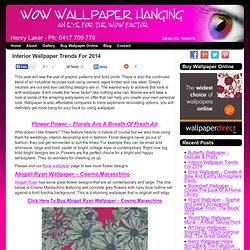 Interior Wallpaper Trends For 2014