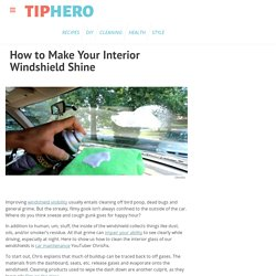 How to Make Your Interior Windshield Shine