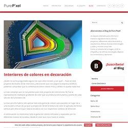 Interiores de colores en decoración - PurePixel