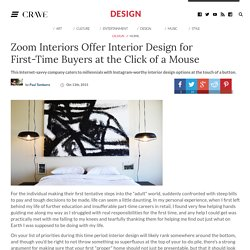 Zoom Interiors Offer Interior Design for First-Time Buyers at the Click of a Mouse