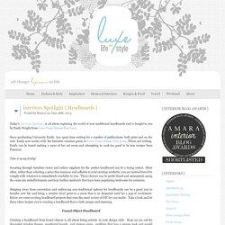 Luxe Life & Style » Blog Archive » Interiors Spotlight { Headboards }